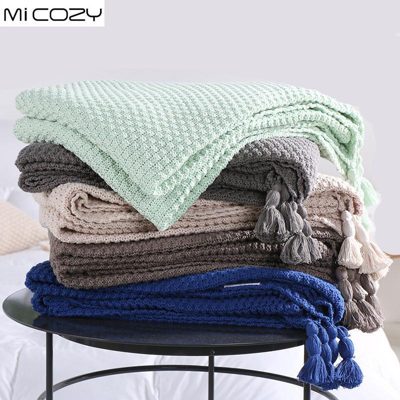 Grosshandel Baumwolle Stricken Dekoration Decke Concis Modern Nap