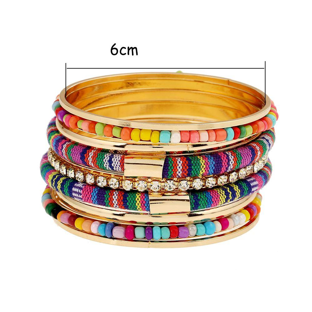Hot Boho Gold Color Women Wide Multilayer Charms Bracelet&Bangles Handmade Pulseira Feminina Party Jewelry Wholesale