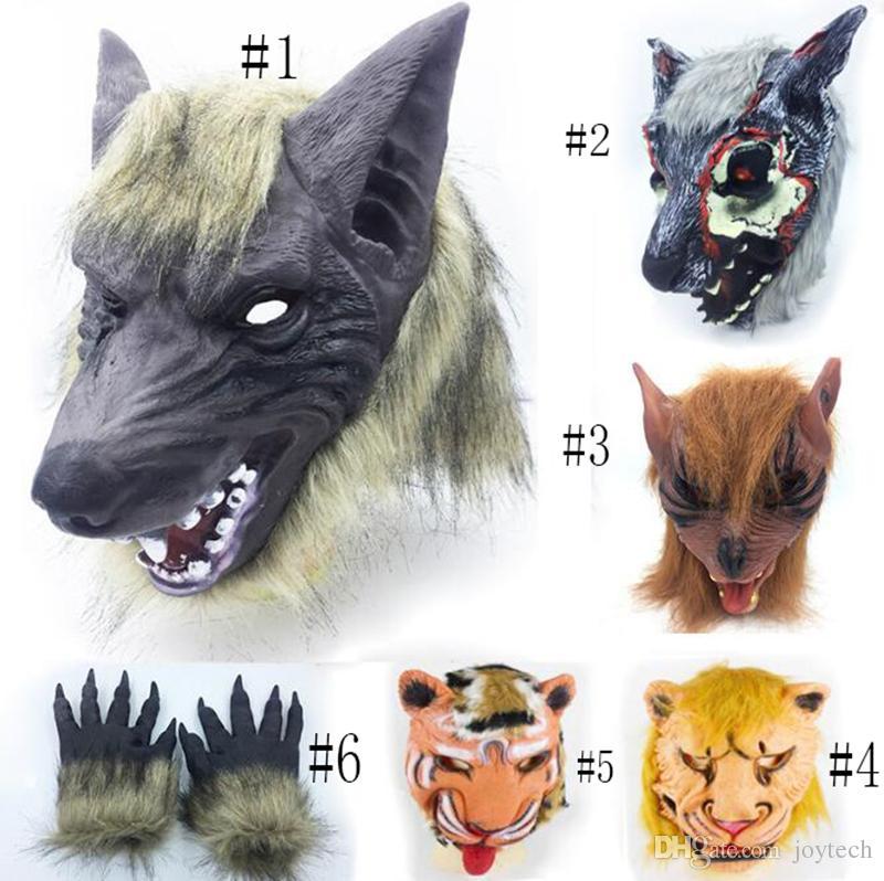 Acheter Halloween Festival Plein Visage Cheval Lion Loup Hippopotame