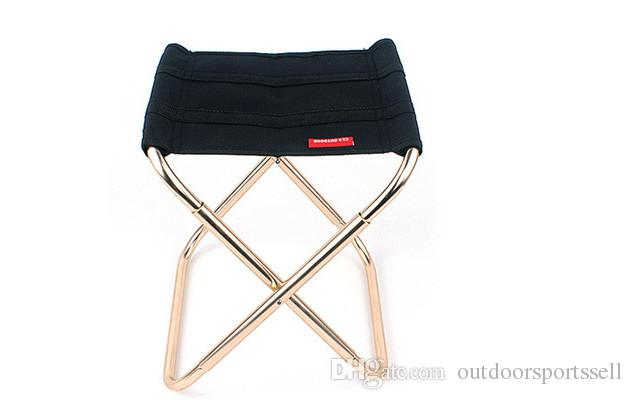 2018 Outdoor folding chair,Camping aluminum alloy fishing,chair BBQ stool,Outdoor mini portable folding chair.