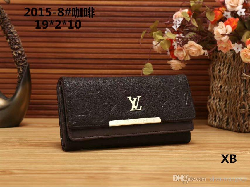 963cacfe5826 2019 new men Women Daily Use Clutches Quality Clutch Nubuck Leather Purse  Fashion Wallet Designer Wallets Famous Brand High Quality