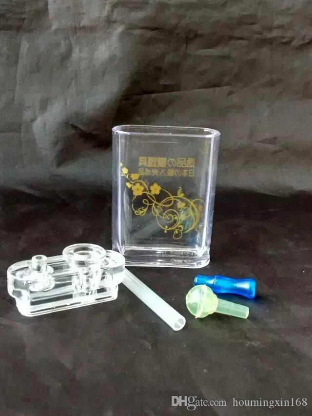 Botella de agua de impresión acrílica Bongs al por mayor Pipas de quemador de aceite Pipas de agua Pipas de aceite de tubo de vidrio fumar, envío gratis