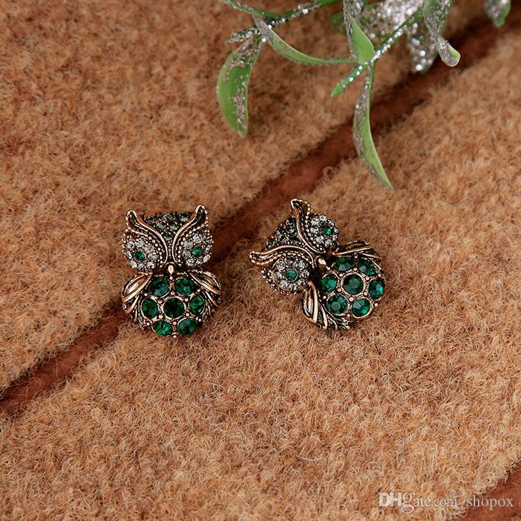 Wild Cute Diamond Owl pendentif boucles d'oreilles pour femmes personnalité Wild Cool bijoux haut de gamme Boucles d'oreilles New
