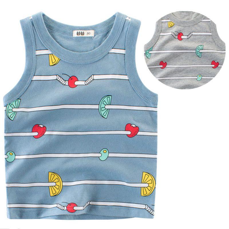 c541e04e4 2019 Kids Boys Casual Cotton Vest Tank Tops Sleeveless Soft Tee ...