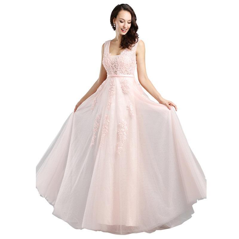 aa9dec240b Compre Robe De Soiree Moda De Encaje Rebordear Sexy Backless Vestidos Largos  De Noche Novia Banquete Elegante Palabra De Longitud Fiesta Vestido De  Fiesta A ...