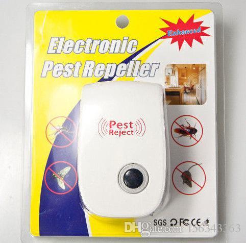 Ultrasonic Pragas Rejeitar Mosquito Assassino Eletrônico Multi-Propósito Rejeitar Rato Rato Repelente Anti Roedor Bug Controle Barata Assassino com Caixa