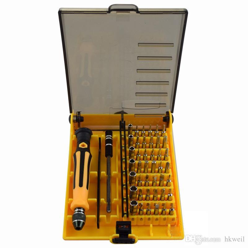 Kit de herramientas de reparación multifuncional 45 en 1 juego de reparación de destornilladores de precisión para portátiles de teléfonos móviles