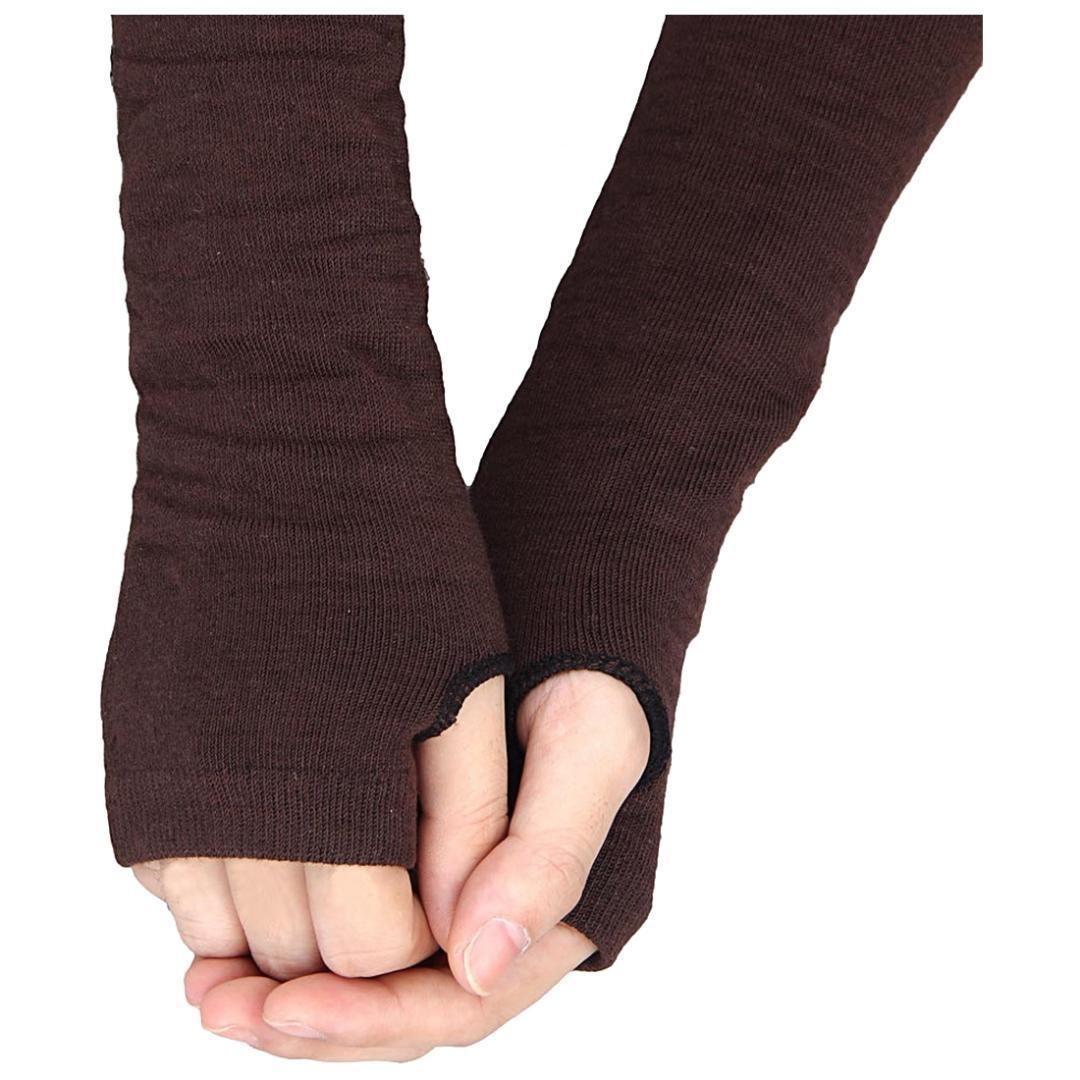 20606a14b85eb 2019 BFYL Men Women Unisex Knitted Fingerless Gloves Soft Warm Long Mitten  Warm Winter, Black From Naughtie, $34.26 | DHgate.Com