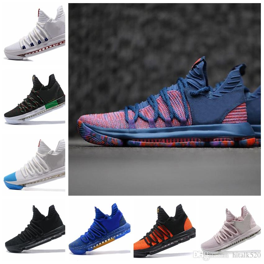 df992f7ea018 2018 Zoom KD 10 X Multi Color Oreo Numbers BHM Aunt Pearl All Star Dark  Stucco Men Basketball Shoes Elite Mid Kevin Durant Sport Sneakers Youth  Basketball ...