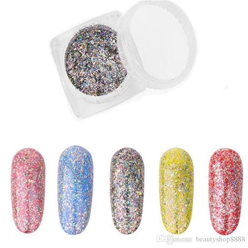 Nail Art Rainbow Glitter Powder Starry Sky Laser Powder Flash Powder