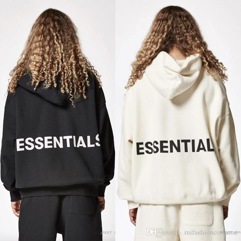 61d24219 2019 18ss Autumn American Fear Of God Essentials Boxy Fashion Luxury  Oversize Sweatshirt Casual Women Men Hooded Hoodies Streetwear Top Design  From ...