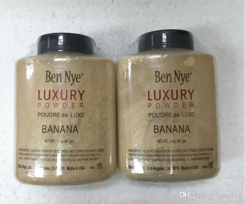 Mew Venda Quente Marca Ben Nye Pó LUXO POUDER de LUXE Banana Pó solto 3 oz / 85g DHL grátis + presente
