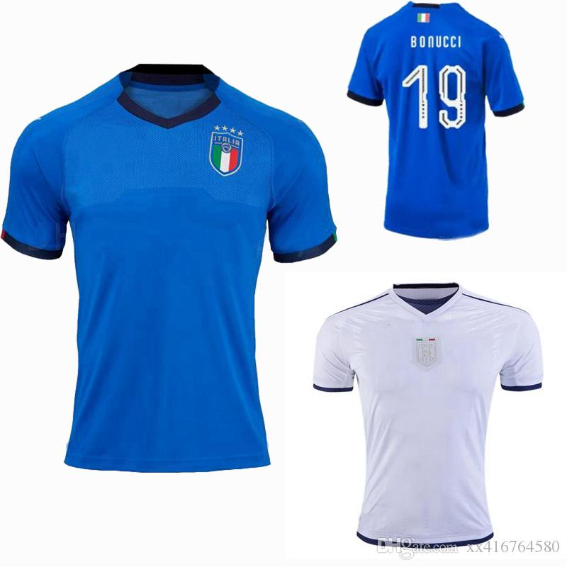 aa8ce094 2019 2018 2019 Italy Soccer Jerseys EL SHAARAWY PIRLO BONUCCI DE ROSSI  INSIGNE VERRATTI CHIELLINI Home Away Football Jersey Shirts From  Xx416764580, ...