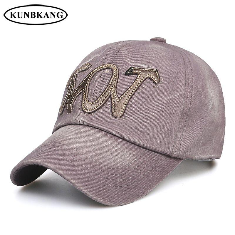 2018 Couple Fashion Washed Baseball Cap Men Women Summer Casual Snapback Hat  Cotton Sports Outdoor Embroidery Visor Trucker Cap Flat Caps For Men Womens  ... 4ff7b52cb998