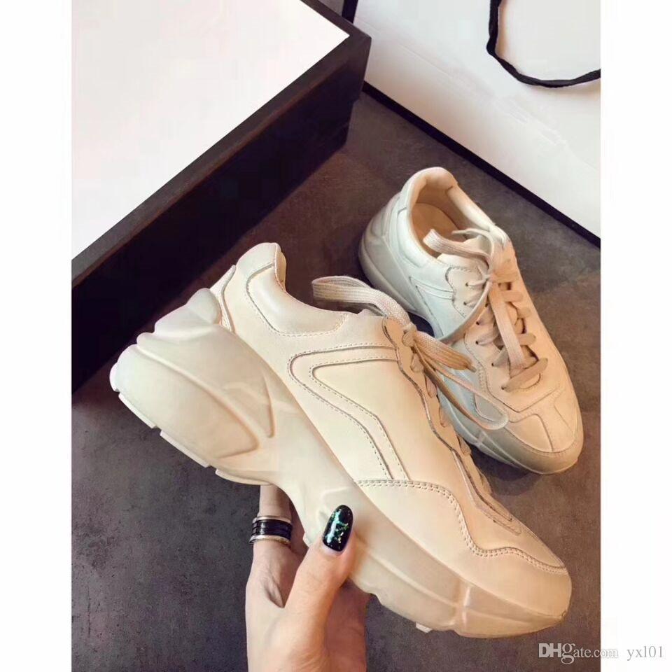 72d72d8ae6 2019 INS Rhyton Vintage Sneaker Fashion Triple-s Luxury Shoes for Women  Mens Shoes TPU Top Designer Triple s Casual Tennis Dad Shoes 36-44
