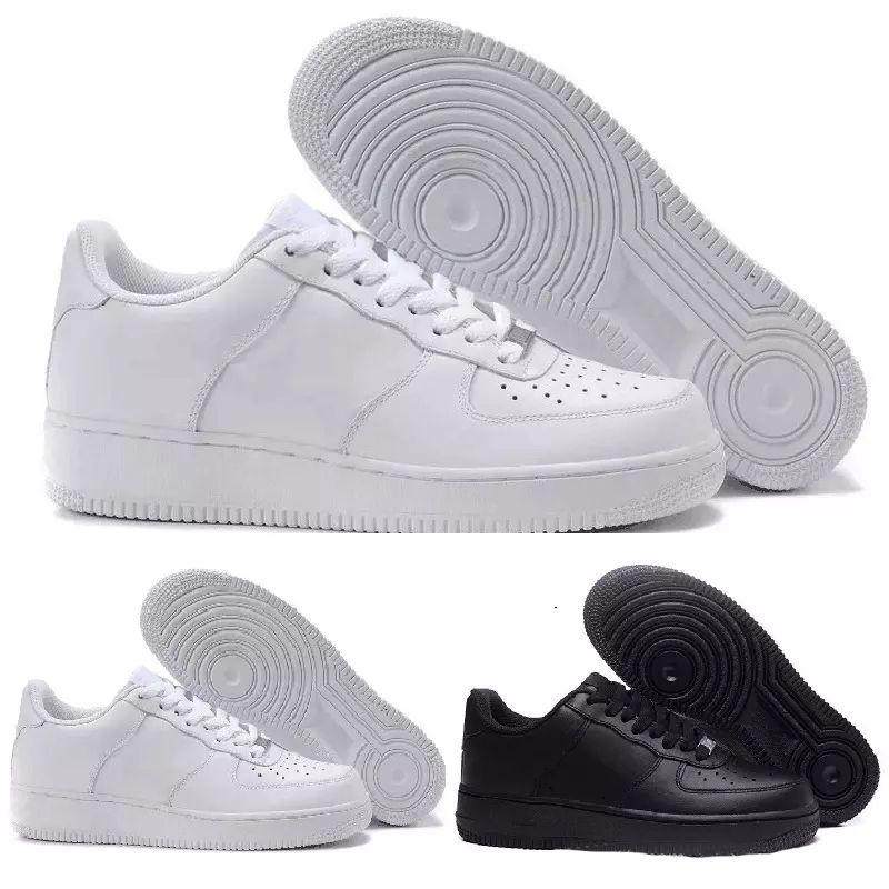 online store fd1d6 21e8d Compre 2018 Nike Air Force 1 One AF1 2018 Clásico 1 Uno Todo Blanco Negro  Gris Corte Alto Corte Alto Hombres Mujeres Deportes Zapatillas De Deporte  Zapatos ...