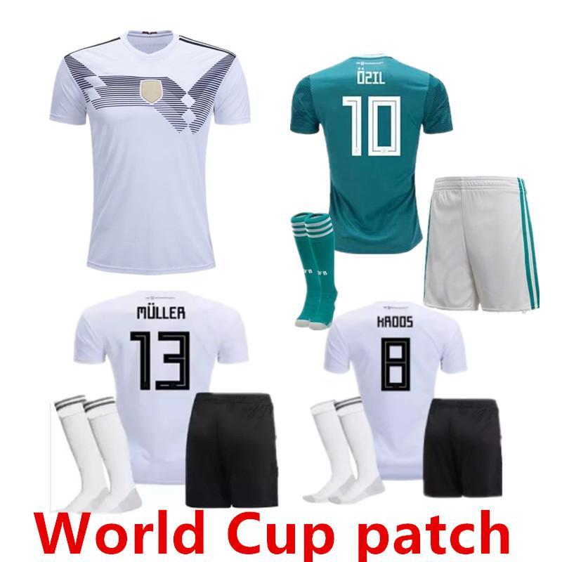 2019 2018 GERMANY Adult Kit Soccer Jersey Away Muller HUMMELS 18 19 World  Cup GORETZKA OZIL KROOS DRAHLER WERNER Men Football Uniform Shirts From ... 65d23e25f