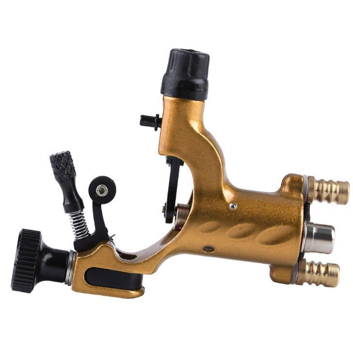 Motor Tattoo Guns Aleación de aluminio Rotary Coral Machine Hook Line RCA Puerto doble para principiantes Envío gratis