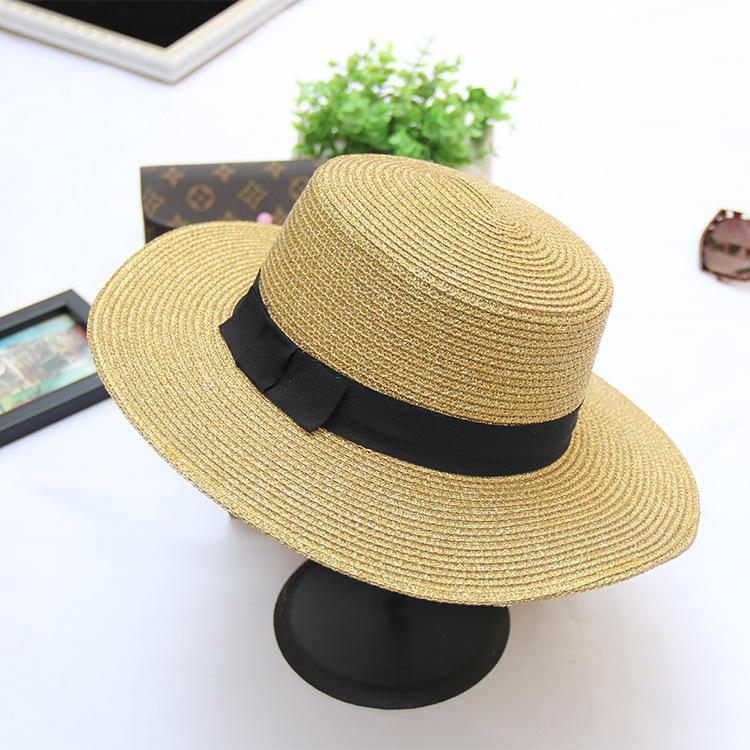 Compre Sombreros De Playa Para Mujeres Adultos Sombreros De Paja Casuales Para  Mujeres Sombrero Mujer Mujer Verano Sol De Verano Cap Ladies Chapeus 2018 A  ... 52bc4eefbbe