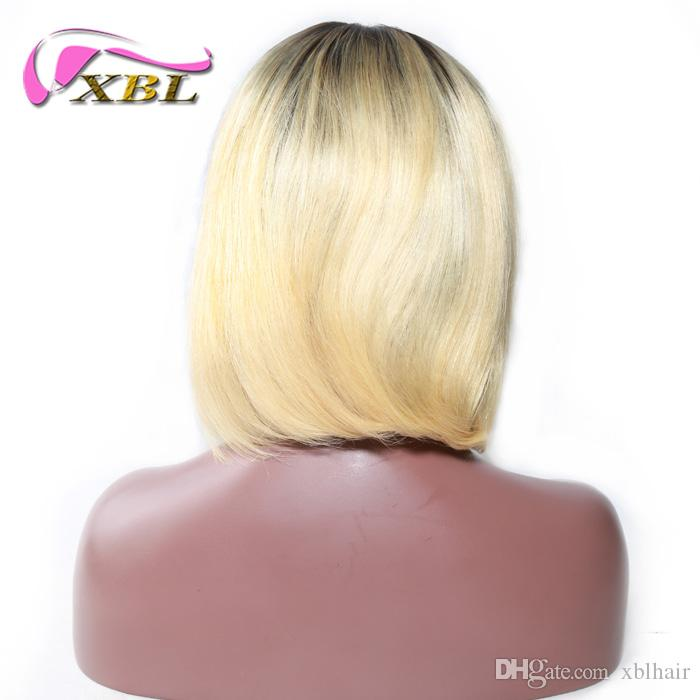 XBLHAIR Short Bob Cut Human Hair Wigs For Women 1b 613 Black Root Ombre  Blonde Wig 150 Density With Baby Hair Remy Straight Curly Wigs Human Hair  Velvet ... 036c7b3eb6