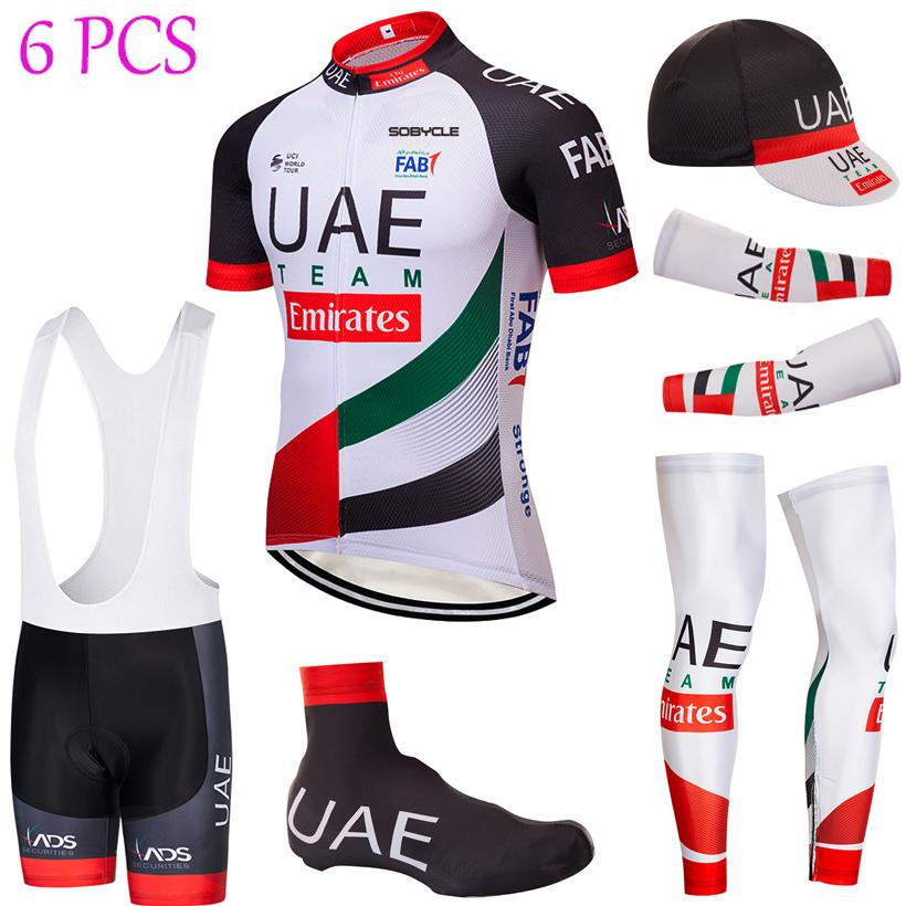 d8ad1798b Full Set 2019 UAE TEAM Cycling Jersey 9D Gel Pad Bib Shorts Kit Ropa ...
