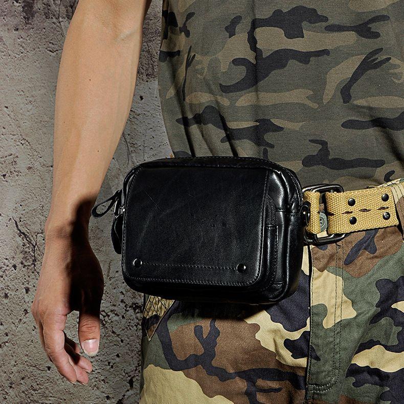 Retro Crazy Horse Genuine Natural Leather Casual Multi-funciton Bag ... c24260cd90fe3