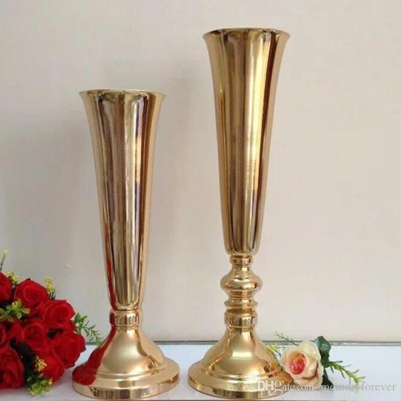 sliver Tabletop Vase Metal Flower Vase Table Centerpiece For Mariage Metal Flowers Vases For Wedding Decoration