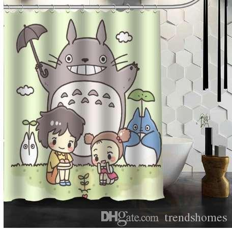 2019 New All Studio Ghibli Character Totoro Custom Shower Curtain Cartoons Bathroom Decor Spirited Away Bath From Trendshomes 4297
