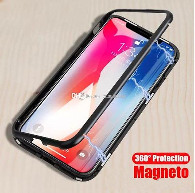 e270a83c22f 360 Magnetic Adsorption Full Clear Magnet Tempered Glass Case For IPhone Xr  Xs Max X 8 7 6S Plus Iphone XS MAX Case Iphone XR Case 360 Degree Magnetic  Case ...
