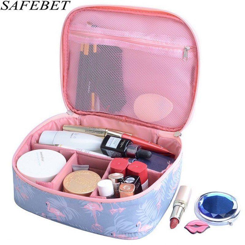 SAFEBET Brand Man Women Flamingo Multifunction Big capacity Waterproof  Portable Organizer Cosmetic Bag Travel Beauty Makeup Bag