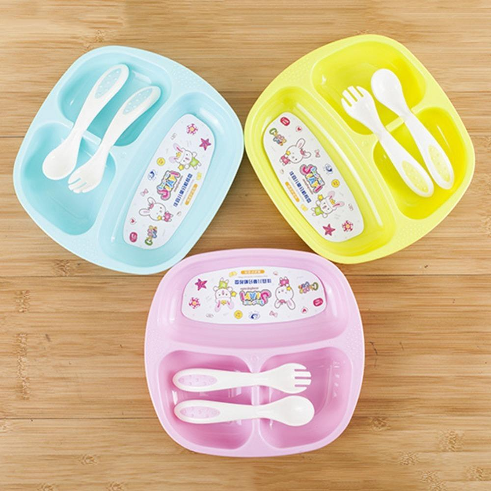 2018 New Child Baby Tableware Plate Set Kids Children Dinnerware Set Dishes And Plates Sets Feeding Fork Spoon Utensils From Babymom $29.7 | Dhgate.Com & 2018 New Child Baby Tableware Plate Set Kids Children Dinnerware Set ...