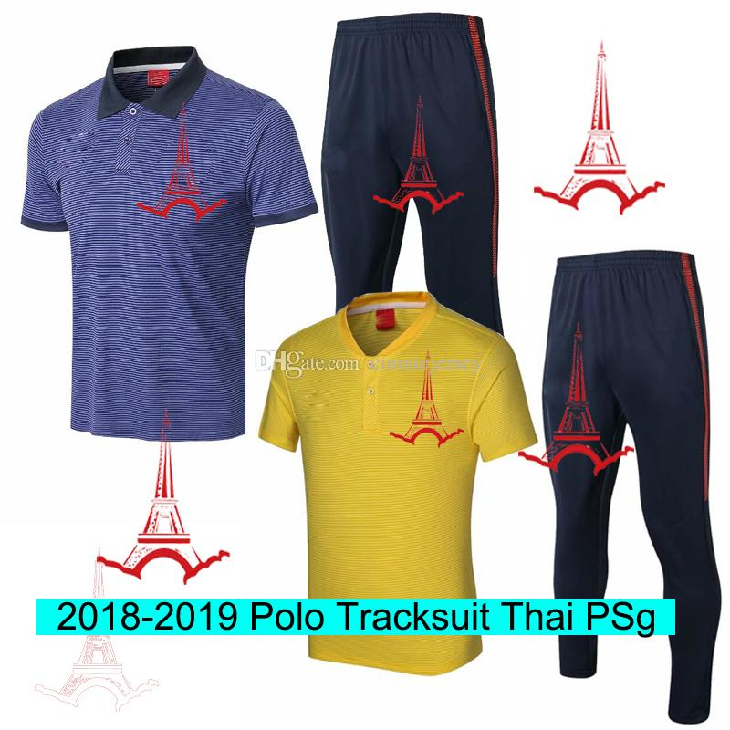 Compre Chándal Survetement Paris Polo Camiseta Pantalón Traje De  Entrenamiento Equipos De Fútbol Chándales De Fútbol PairsstGermain Camisetas  Hombre ... 9234a4dcc992e