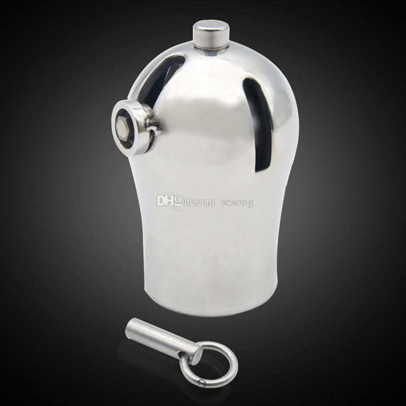 PA замки прокол мужской целомудрие устройство титана металлический петух Кейдж CB6000 пенис рукав крышка секс-игрушки для мужчин ТОС БДСМ бондаж