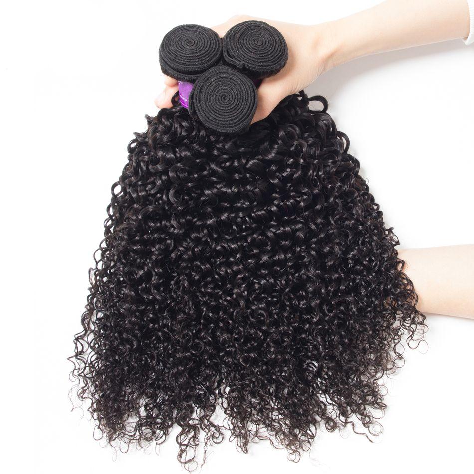 3Bundles Mink Brazilian Deep Curly Hair Weave Bundles 8-30 inch 100% Human Hair Jet Natural Black Color Virgin Hair Deep Curly Bundles