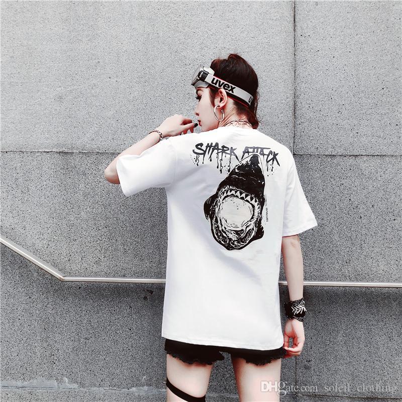 Style coréen d'été ulzzang Harajuku INS en vrac T-shirt à manches courtes lâche BF pour hommes et femmes