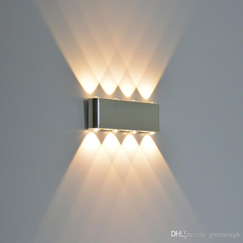 O 8W moderno conduziu para baixo para baixo da parede do spotlight da iluminação do Spotlight das luzes decorativas da lâmpada da lâmpada do retângulo da parede para o jardim AC85-265V