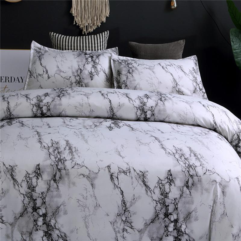 Marble Bedding Set Purplewhiteblackcoffeeblue Duvet Cover Twin