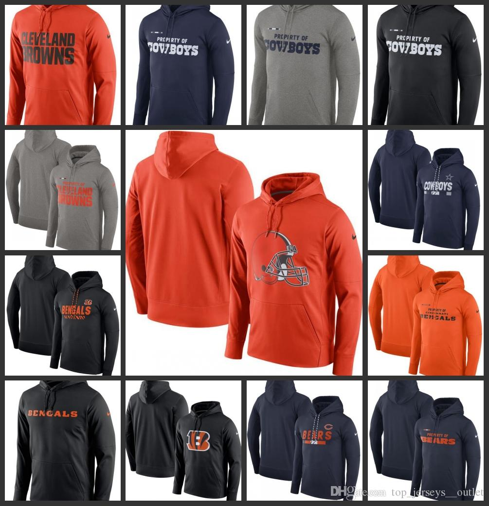 low priced a7818 a78a8 Dallas Cowboys Cleveland Browns Cincinnati Bengals Chicago Bears Men  Property Of Performance Pullover Hoodie