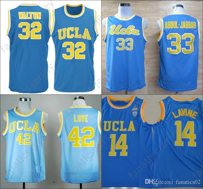 UCLA Bruins Jersey NCAA College Basketball 32 Bill Walton 42 Love 31 Reggie  Miller 14 Zach LaVine 2018 Big Discount Jerseys UK 2019 From Fanatics02 07447e57f
