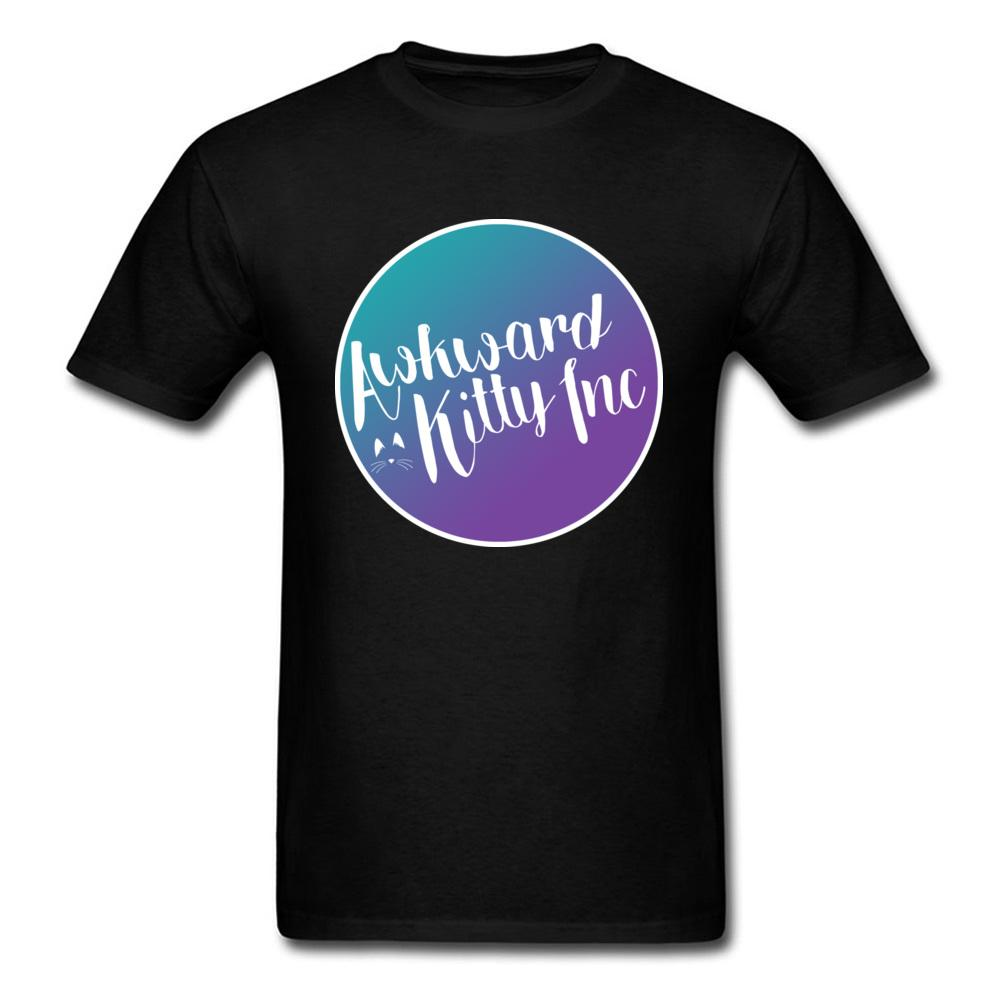a94052aa84 Logo Design AwkwardKitty T Shirts 100% Organic Cotton Band Clothes Shirt  Summer Autumn Popular T Shirts Plus Size White Tshirt Online T Shirt  Shopping Print ...