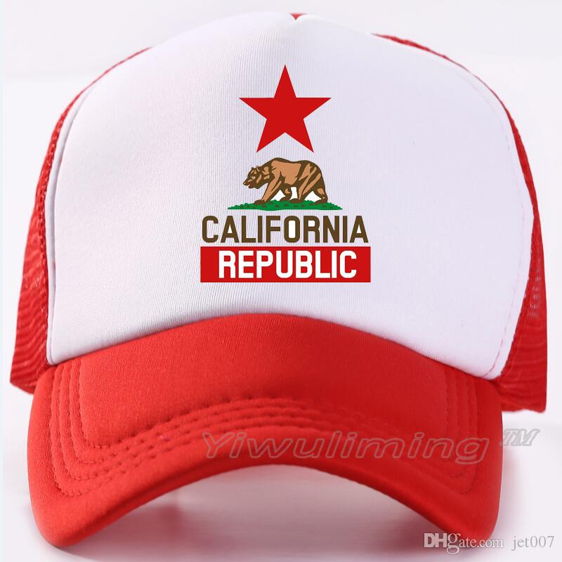 ae0227a88c802 ... sale men women new summer trucker caps california republic cool summer  black adult cool baseball mesh