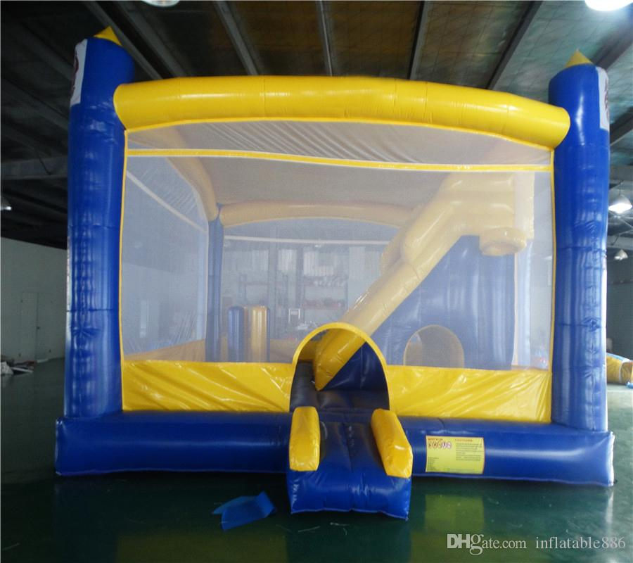 environmental protection material good quality inflatable bounding table jumper bouncer bounce house with slide
