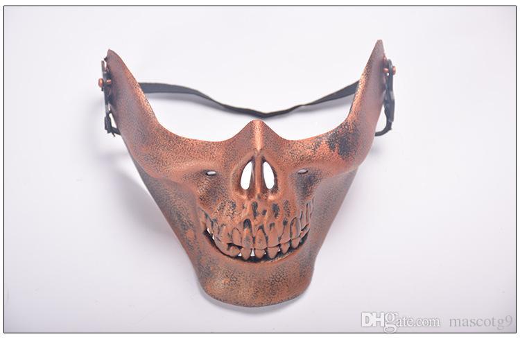 Máscara de cráneo de campo caliente máscara de Halloween protección facial completa máscara de horror fiesta de baile al por mayor