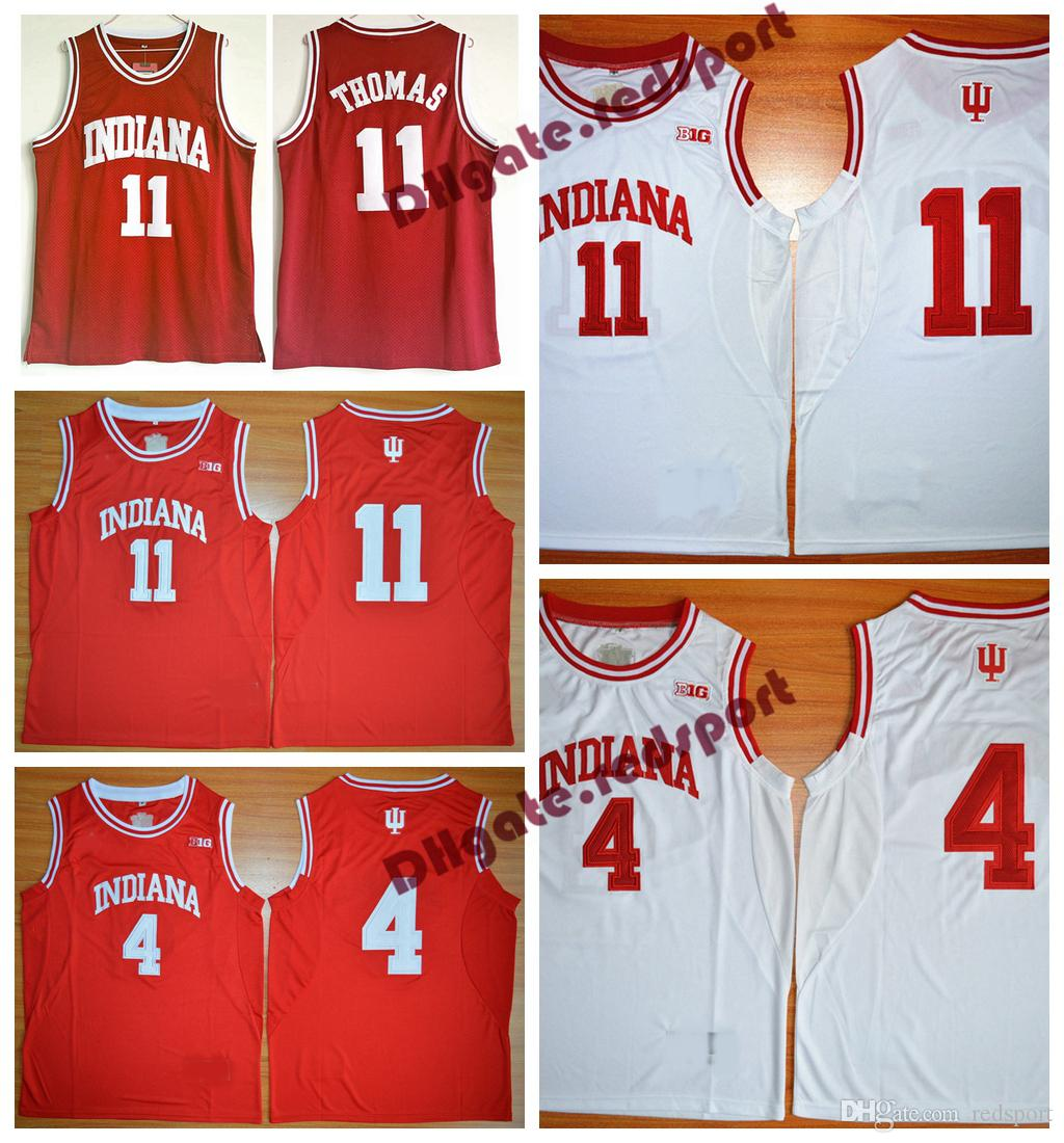 0106d56d6bb 2019 Vintage Indiana Hoosiers College Jersey Isiah Thomas 11 Victor Oladipo  4 University Basketball Shirt Isiah Thomas Stitched Jersey From Redsport
