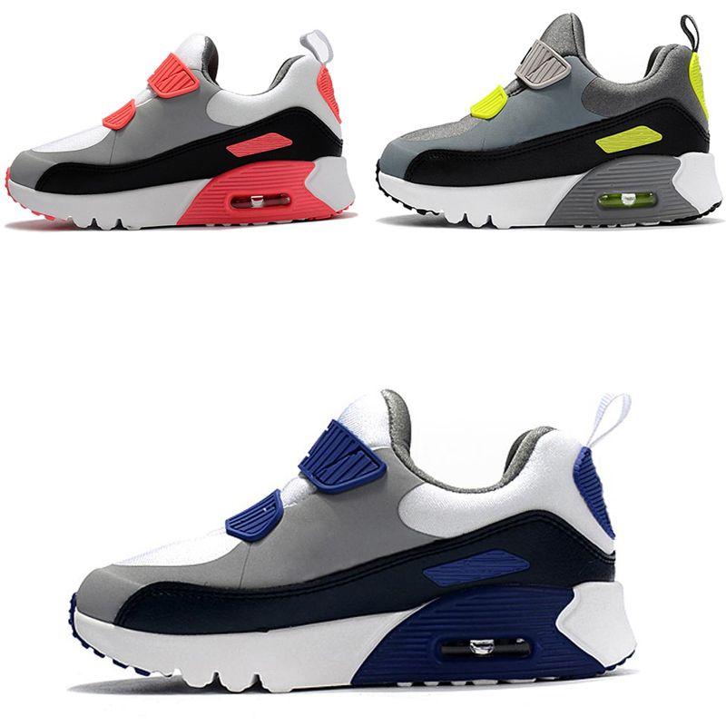 newest e57e7 bd0be Compre Nike Air Max 90 Zapatillas Deportivas Para Niños Presto 90 II  Zapatillas De Correr Para Niños Negro Blanco Bebé Zapatilla Infantil 90  Zapatillas ...