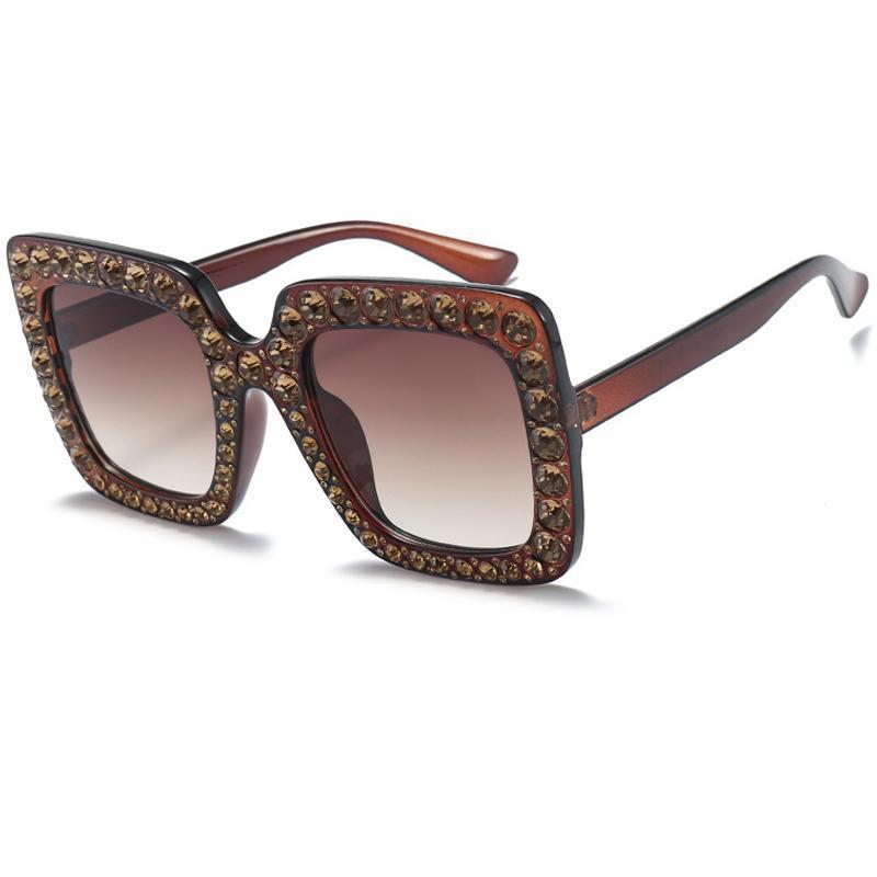 c8b67602701 Big Diamond Popular Sunglasses Square Full Frame Shades Women ...