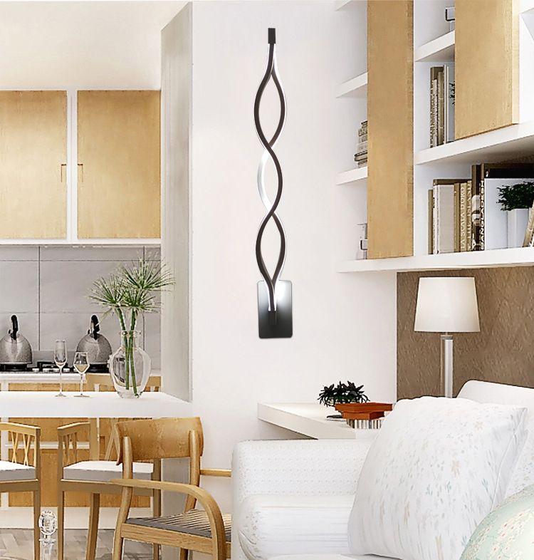 Moderna minimalista creativo camera da letto corridoio soggiorno TV sfondo in alluminio a LED lampada da parete dell'onda