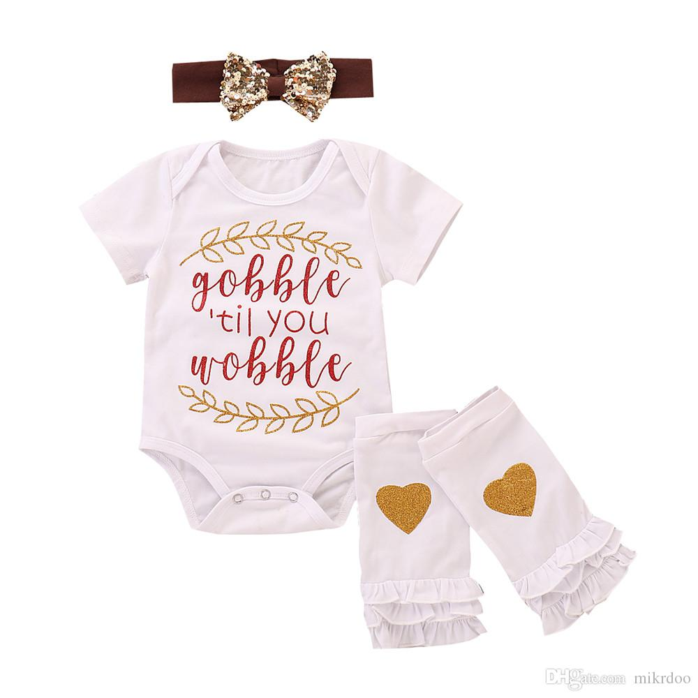 bb4121b43305 2019 Mikrdoo Newborn Baby Boys Girls Cute Christmas Clothes Set Short Sleeve  Letter Ans Leaf Print Romper With Gloves Headband Outfit From Mikrdoo, ...