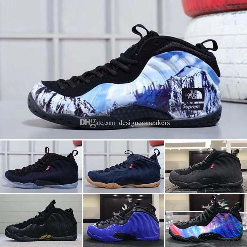 df88b5f7928 2018 New Airl Penny Hardaway Fruity Pebbles Olympic USA Eggplant Royal  Basketball Shoes Cheap Boys Youth Air Foam One Sneakers For Sale Running  Shoes Youth ...