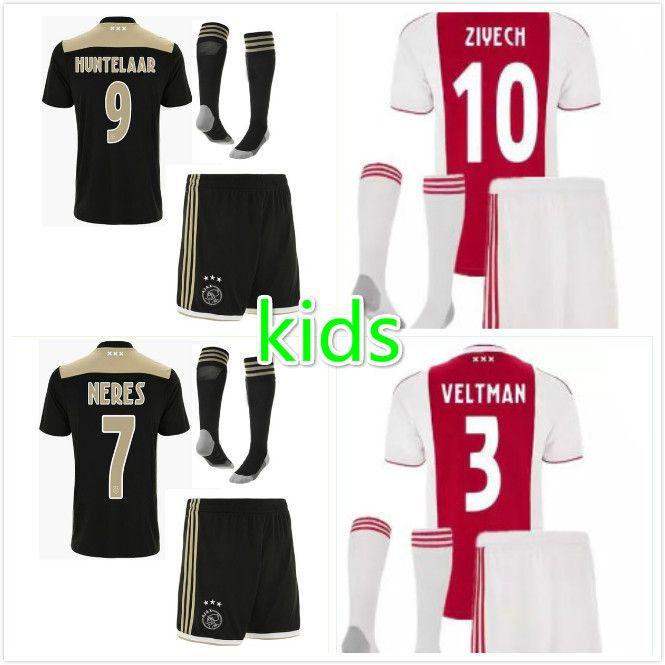 7666f45e4e4 2019 2018 2019 Best Ajax Kids Soccer Jersey 18 19 Ajax Home Away Children Soccer  Shirt 2019 Customized  10 KLAASSEN  34 NOURI Football Shirt From ...